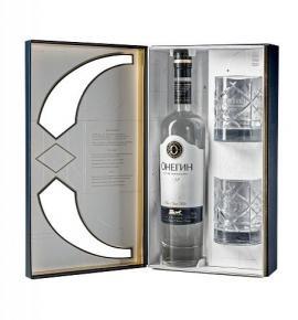 водка Онегин 700мл Кутия с 2 чаши