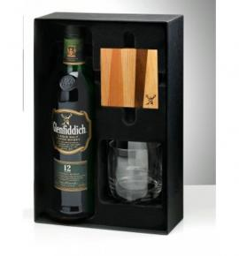уиски Гленфидиш 700 мл. 12 год. с чаша и подложка