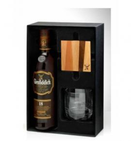 уиски Гленфидиш 700 мл.18 год. с чаша и подложка