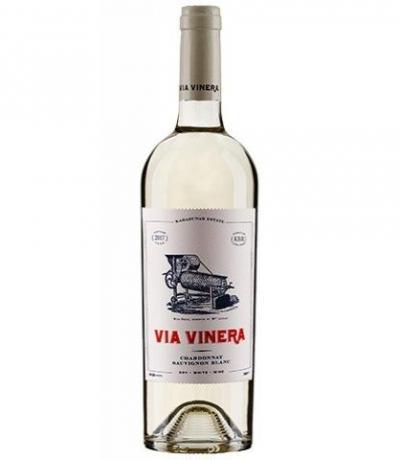 вино Виа Винера 750мл Шардоне и Совиньон блан 2018г