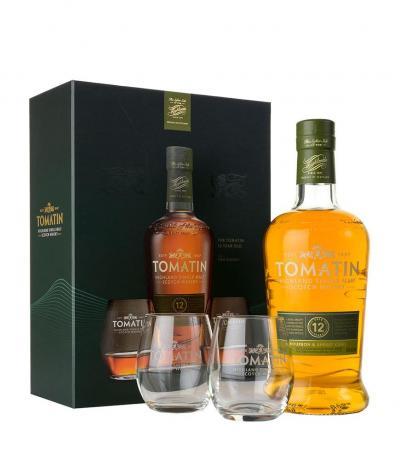 уиски Томатин 700мл 12г с 2 чаши Кутия