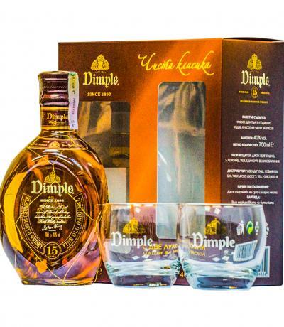 уиски Дъмпъл 700мл с Оригинални 2 чаши