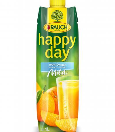 натурален сок Раух Хепи дей 1л Портокал с  парченца плод