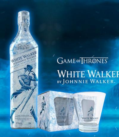 Бял Уокър от Джони Уокър 700мл  + подарък 2 чаши