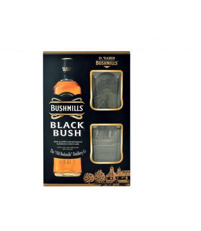 уиски Блек Буш 700мл с две чаши