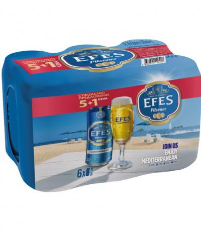 бира Ефес Пилзнер 5+1 500мл КЕН