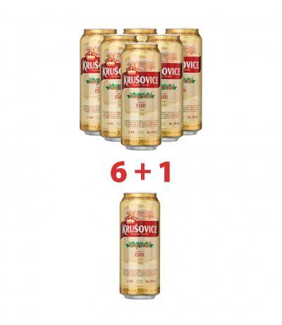 бира Крушовице 500мл Империал кен пакет 6 + 1