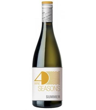 вино вила Юстина Четири сезона Лято 750мл Траминер 2013