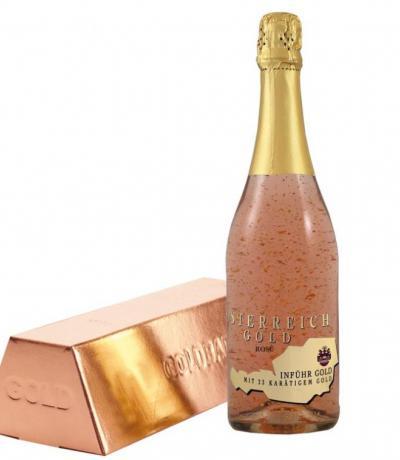 вино Йостерайх 750мл Голд Розе 23К злато с кутия