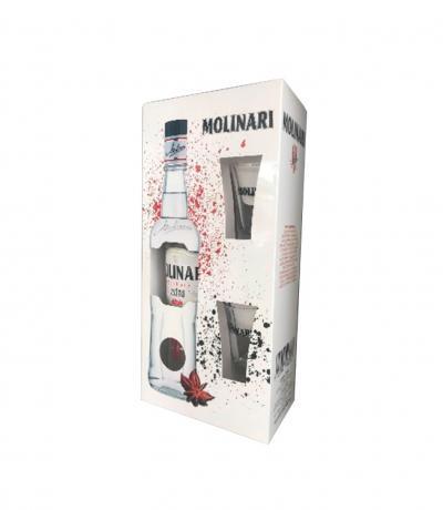 самбука Молинари 700мл Екстра с 2 ШОТ чаши