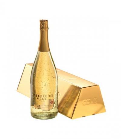 пенливо вино Йостерайх 1,5 Голд 24К златни частици с КУТИЯ