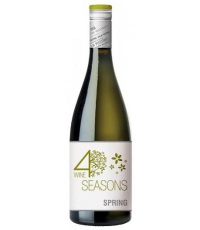 вино вила Юстина Четири сезона Пролет 750мл Совиньон Блан и Семийон 2013