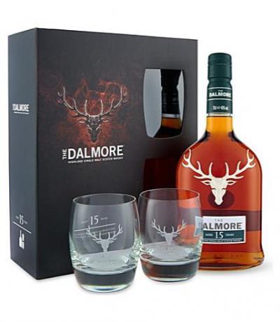 уиски Далмор 700мл 15г с 2 чаши сингъл малц