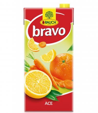 напитка Раух Браво 2л портокал, морков и лимон АСЕ 30%