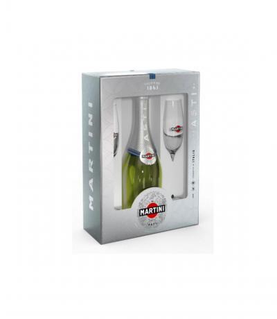 пенливо вино Мартини Асти 750мл с 2 чаши