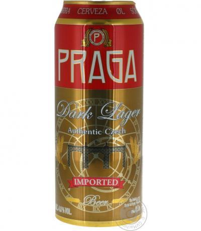бира Прага 500мл Тъмно Лагер кен