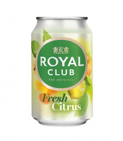 Газирана безалкохолна напитка Роял Клуб Цитрус Фреш 330мл