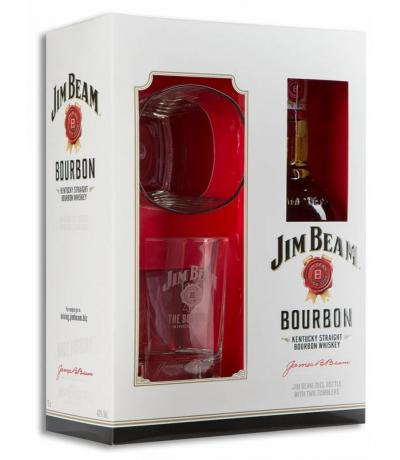 bourbon Jim Beam 700ml 2 glass 2014
