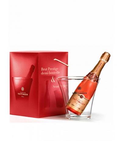 шампанско Тетанже Престиж 375мл. Розе NV мини подаръчен комплект с шампаниера