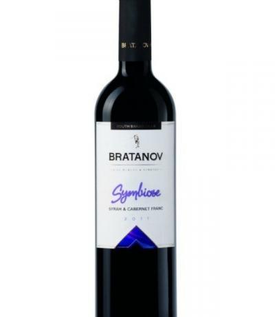 вино Братанови Симбиоза 750мл Сира и Каберне Фран 2011