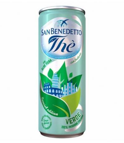 студен чай Сан Бенедето 330мл Зелен с Алое вера КЕН