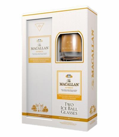 уиски Макалан 700мл Амбър с две чаши