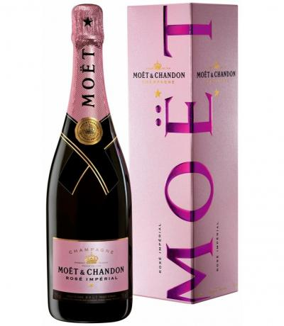шампанско Моет и Шандон 750мл Розе Империал брут с кутия