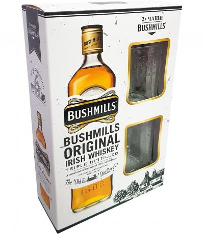 уиски Бушмилс 700мл с 2 чаши